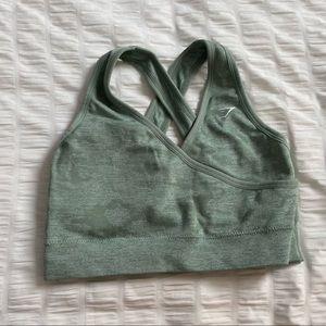 Gymshark camo green sports bra